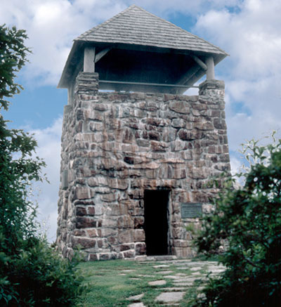 Rock tower with viewing room at top